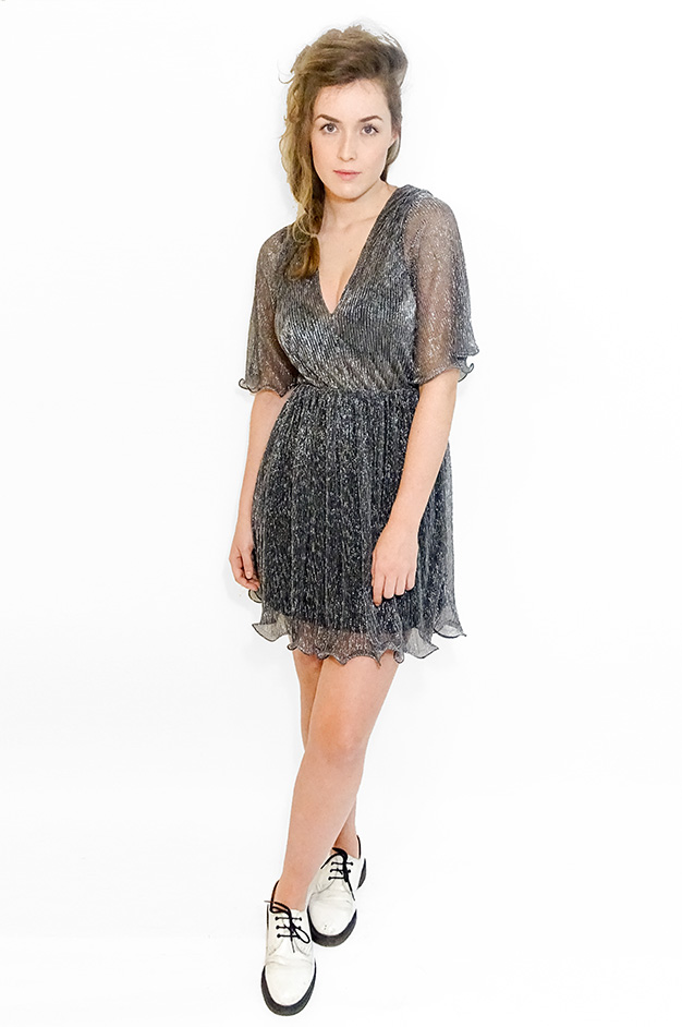KATHARINA GLITTER DRESS   SILVER