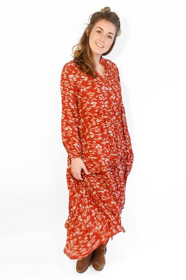 MIA LONG HIGH-LOW DRESS   RED