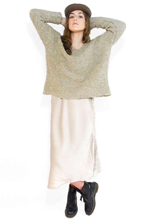 IMAN CAMI SLIP DRESS   CHAMPAGNE