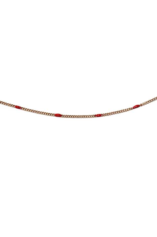 CHAIN NECKLACE | RED