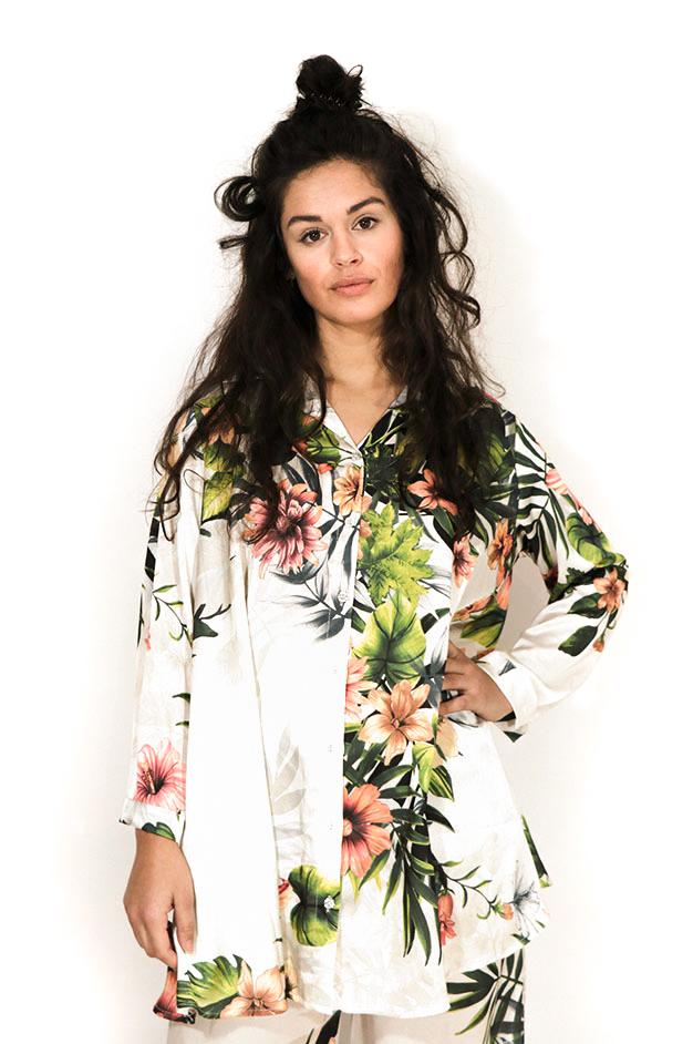 SIA FLOWERY BLOUSE DRESS   JUNGLE