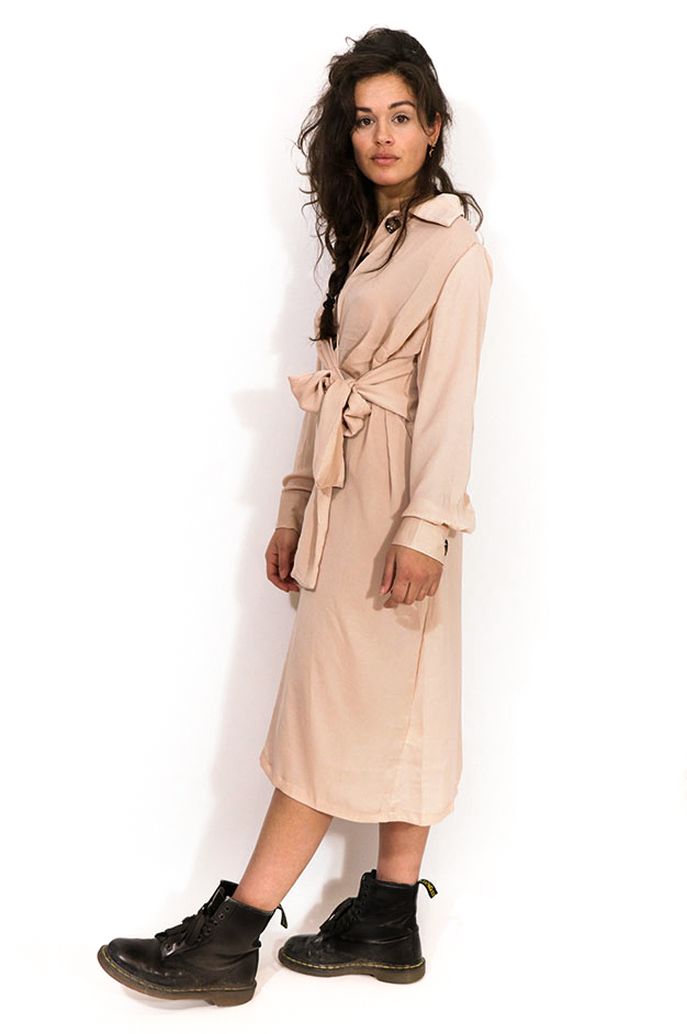 OLIVIA ROMANTIC BUTTONED DRESS | PINK