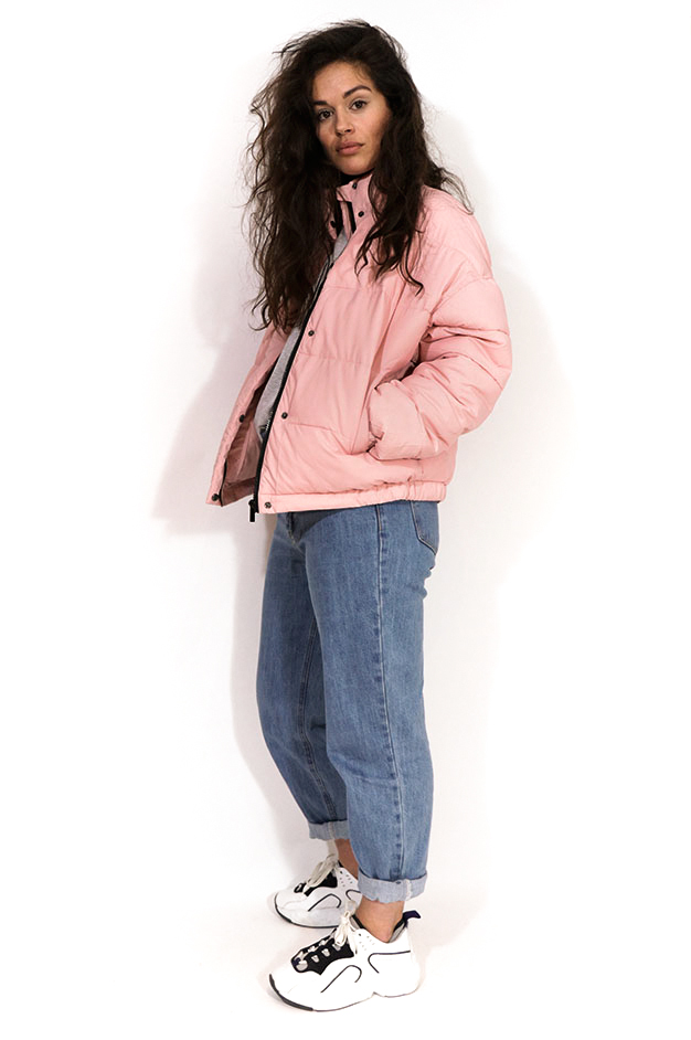 SUZY CROPPED PUFFER JACKET | PINK