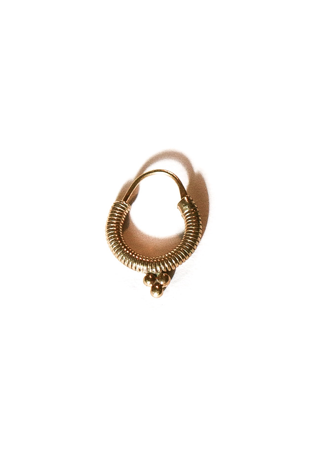 EARRING SPIRAL | GOLD-PLATED