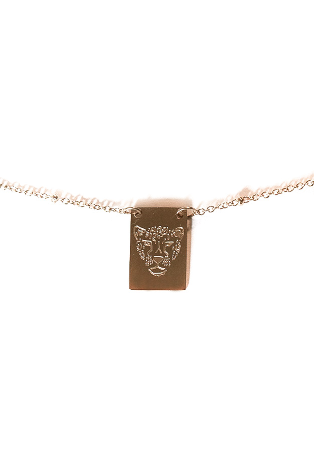 NECKLACE STAY WILD TIGER | GOLD STAINLESS STEEL