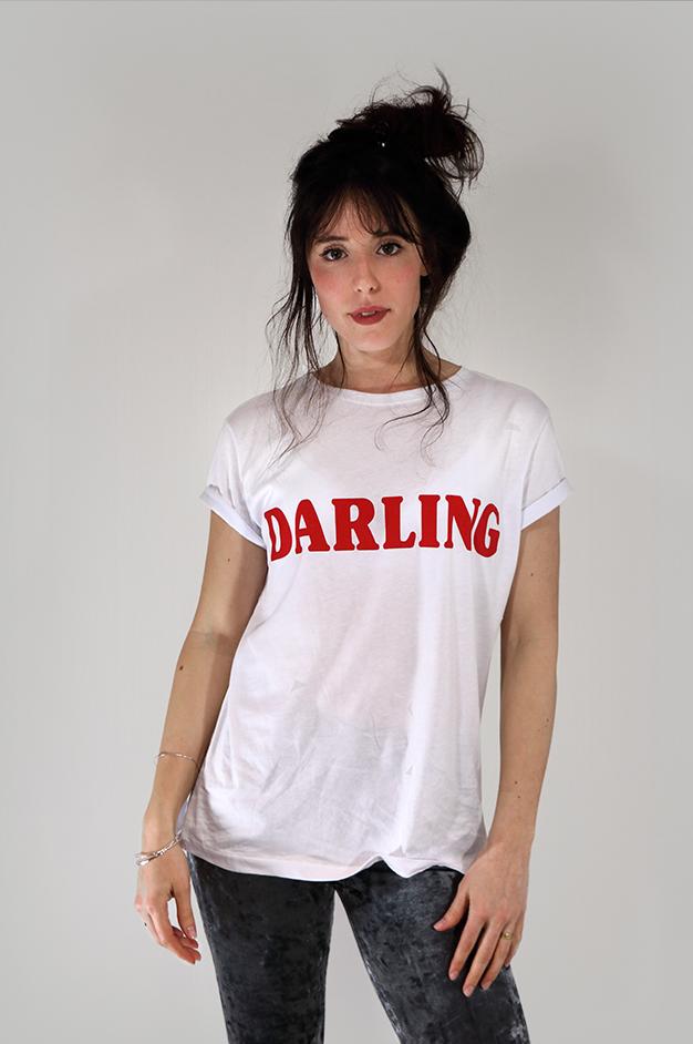 DARLING RETRO T-SHIRT | WHITE