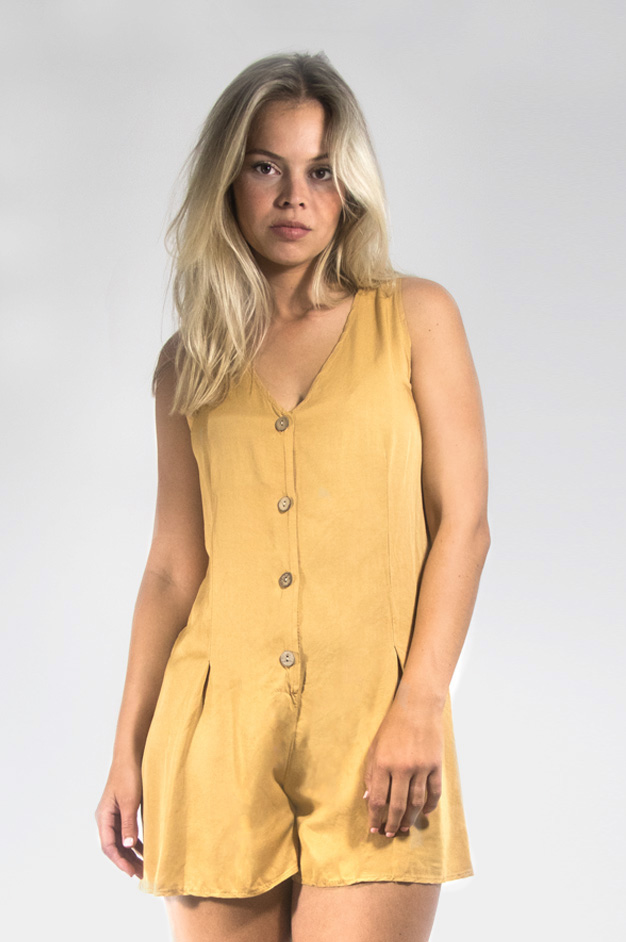 JACKY YELLOW PLAYSUIT